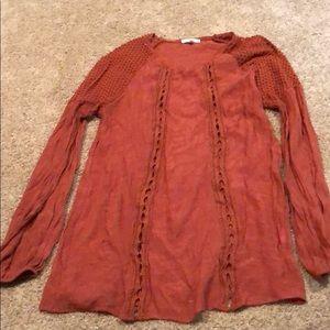 Long sleeve orange tunic/ shirt.